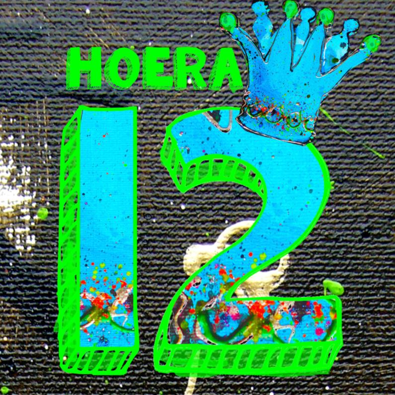 Verjaardagskaarten - verjaardagskaart jongen 12