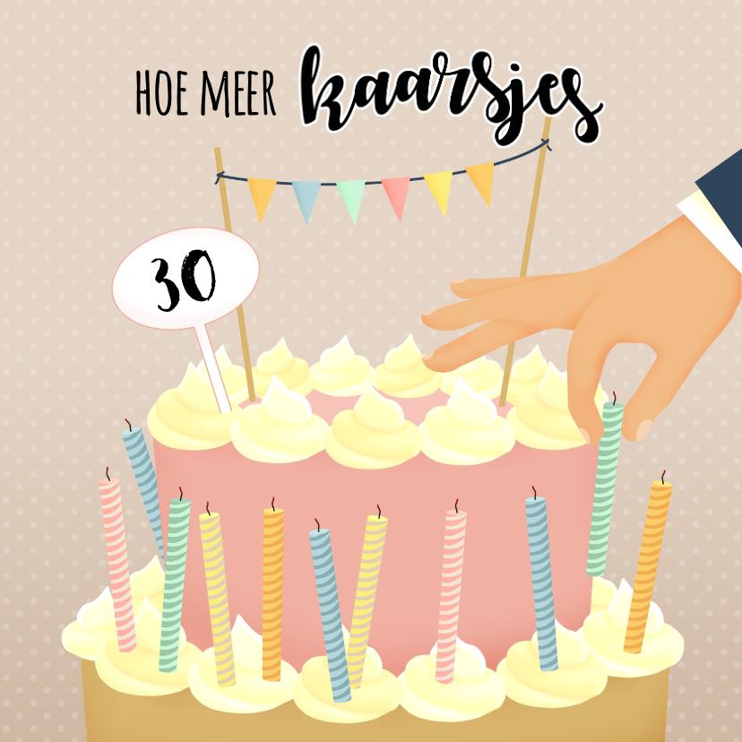 Verjaardagskaarten - Verjaardagskaart kaarsjes op de taart