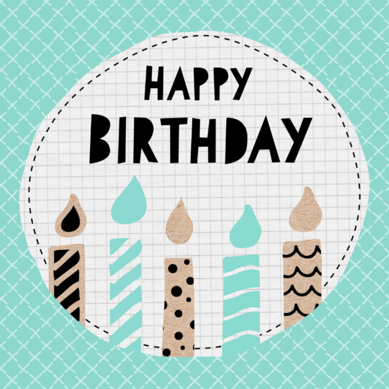Verjaardagskaarten - Verjaardagskaart kaarsjes