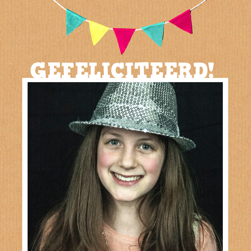 Verjaardagskaarten - Verjaardagskaart karton tiener meid