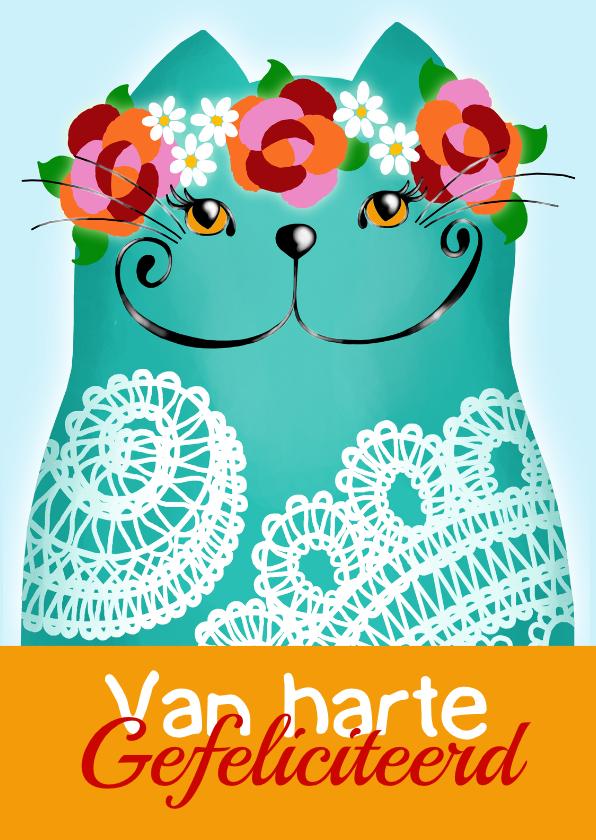 Verjaardagskaarten - Verjaardagskaart Katje Lace 2
