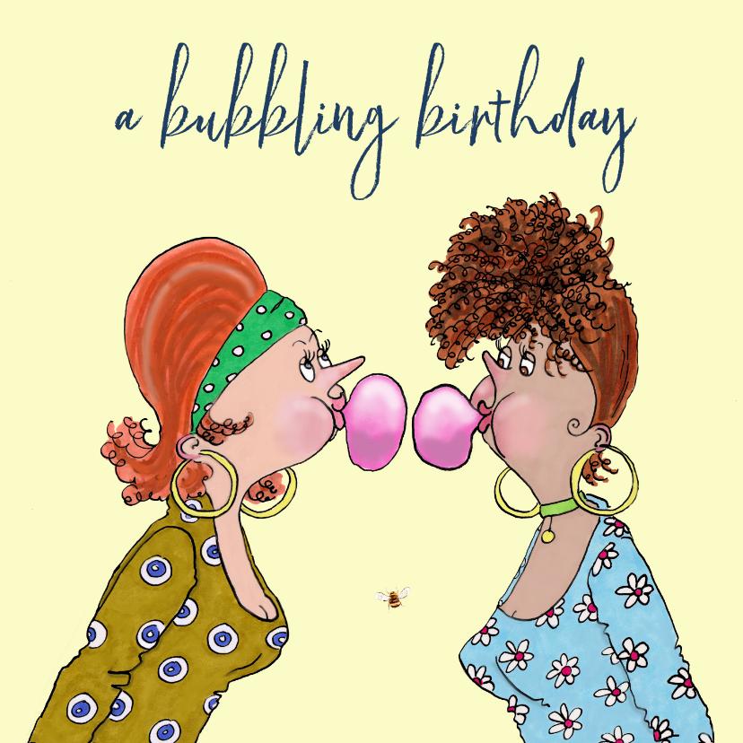 Verjaardagskaarten - Verjaardagskaart kauwgum