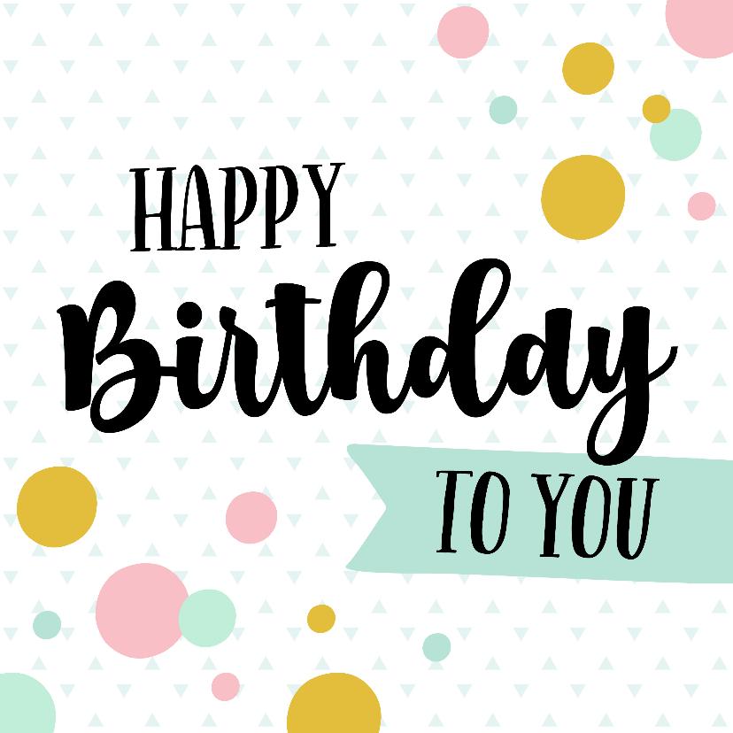 Verjaardagskaarten - Verjaardagskaart kleurrijk confetti