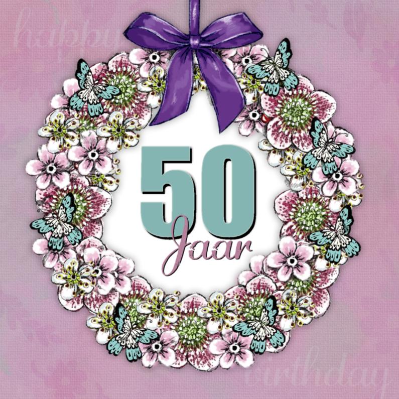 Verjaardagskaarten - Verjaardagskaart Krans Sara - IH