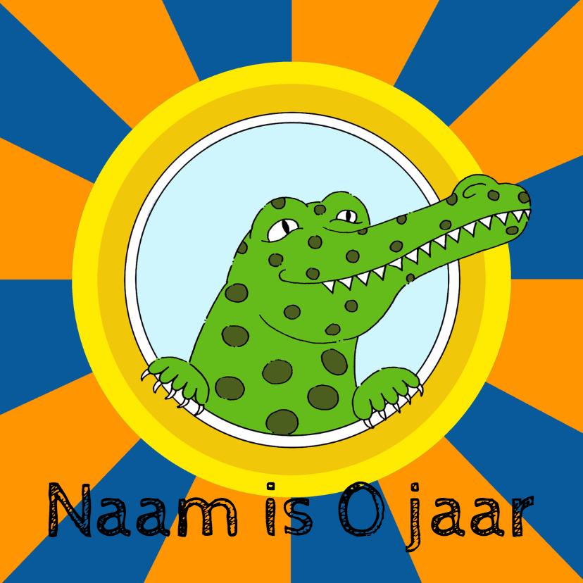 Verjaardagskaarten - Verjaardagskaart krokodil