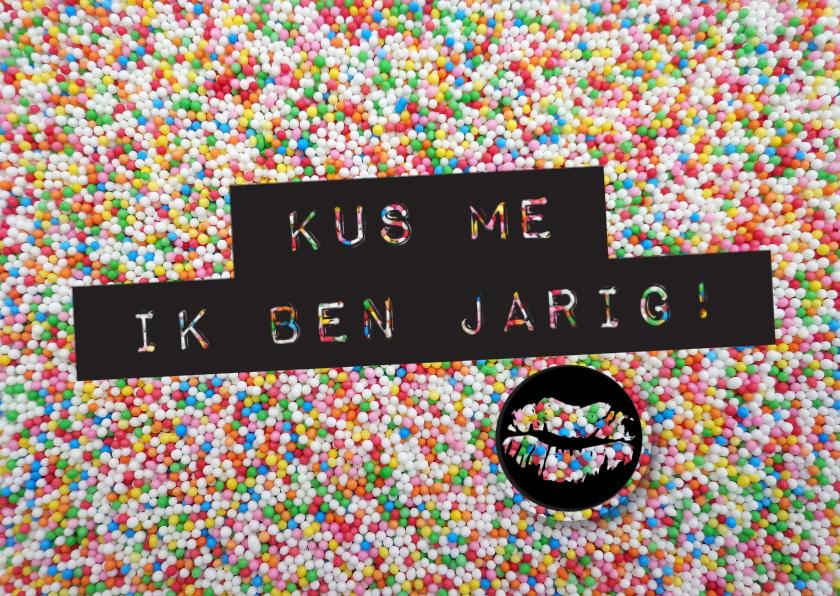 Verjaardagskaarten - Verjaardagskaart Kus Me - LO