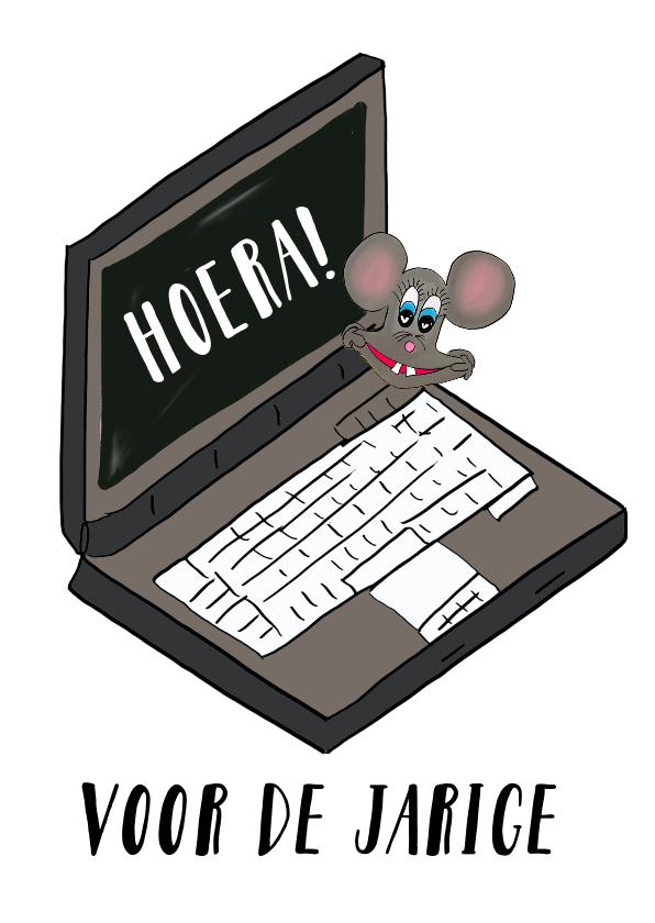 Verjaardagskaarten - Verjaardagskaart Laptop PA