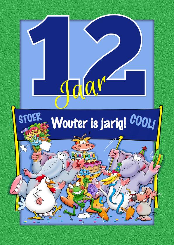 Welp Verjaardagskaart leuk, 12 jaar aanpasbaar   Kaartje2go JO-45