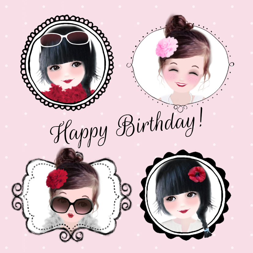 Verjaardagskaarten - Verjaardagskaart Loulou & Ting