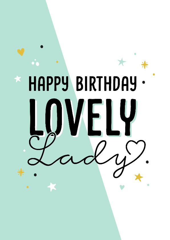 Verjaardagskaarten - Verjaardagskaart lovely lady