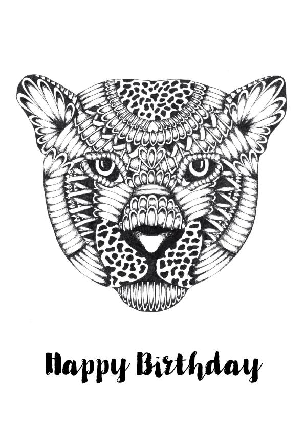 Verjaardagskaarten - Verjaardagskaart Luipaard