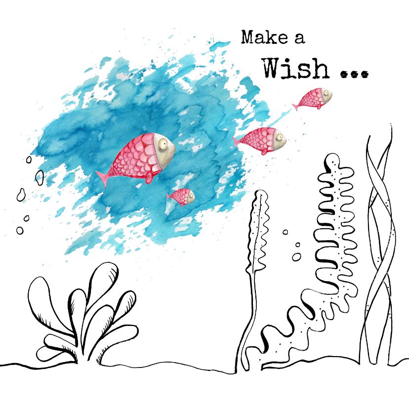 Verjaardagskaarten - Verjaardagskaart make a wish