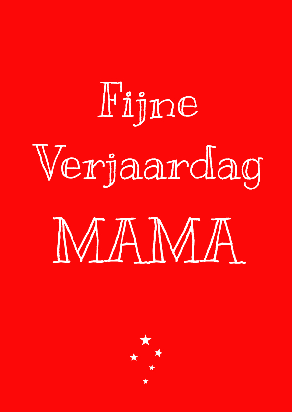 Verjaardagskaarten - Verjaardagskaart Mama