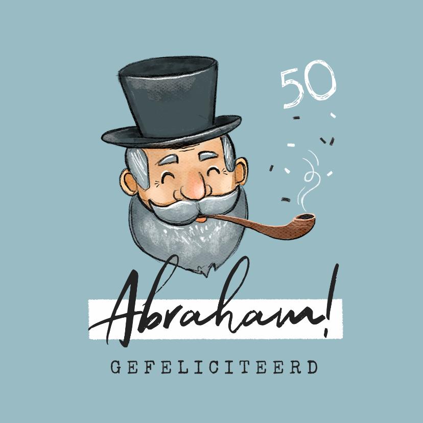 Verjaardagskaarten - Verjaardagskaart man 50 jaar abraham vintage