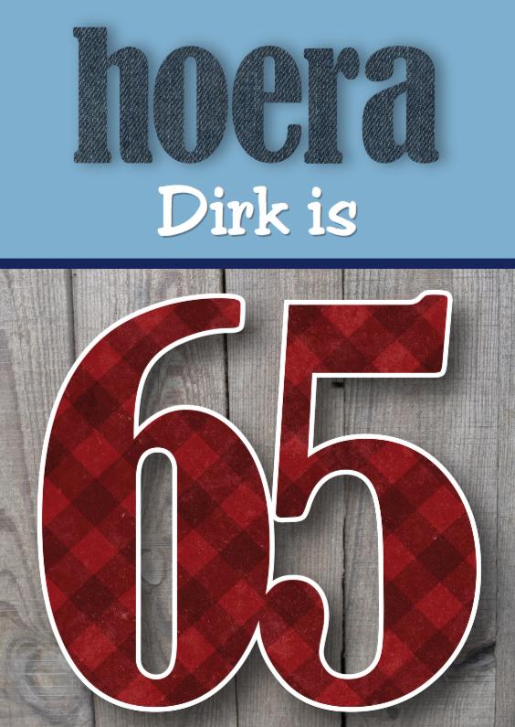 Verjaardagskaarten - Verjaardagskaart man stoer 65