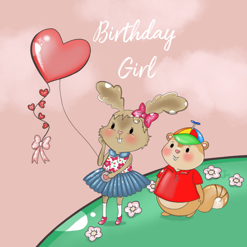 Verjaardagskaarten - Verjaardagskaart Maple and Chestnut vlieger
