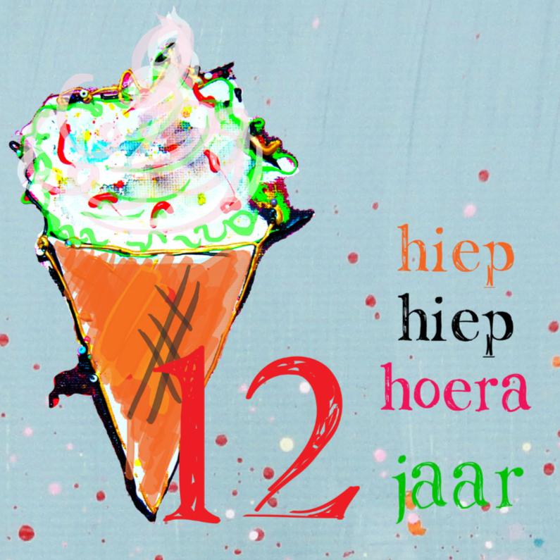 Verjaardagskaarten - verjaardagskaart meisje 12