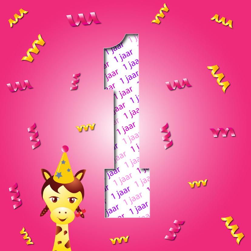 Verjaardagskaarten - verjaardagskaart meisje1jaar-2