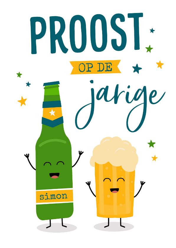 Verjaardagskaarten - Verjaardagskaart met bier