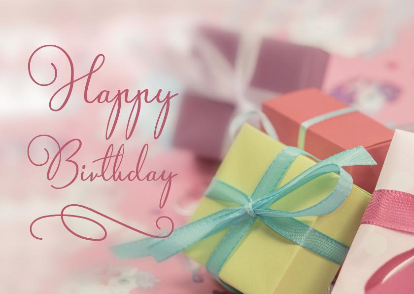 Verjaardagskaarten - Verjaardagskaart met cadeautjes