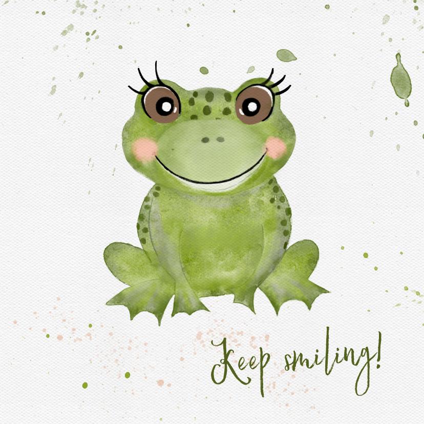 Verjaardagskaarten - Verjaardagskaart met grote groene kikker