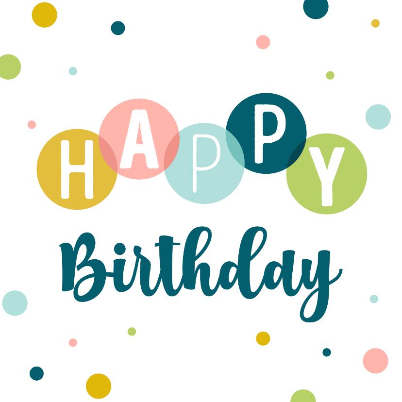 Verjaardagskaarten - Verjaardagskaart met kleurrijke confetti