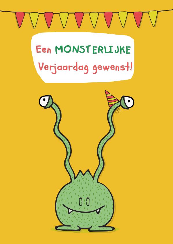 Verjaardagskaarten - Verjaardagskaart Monsterlijke dag!