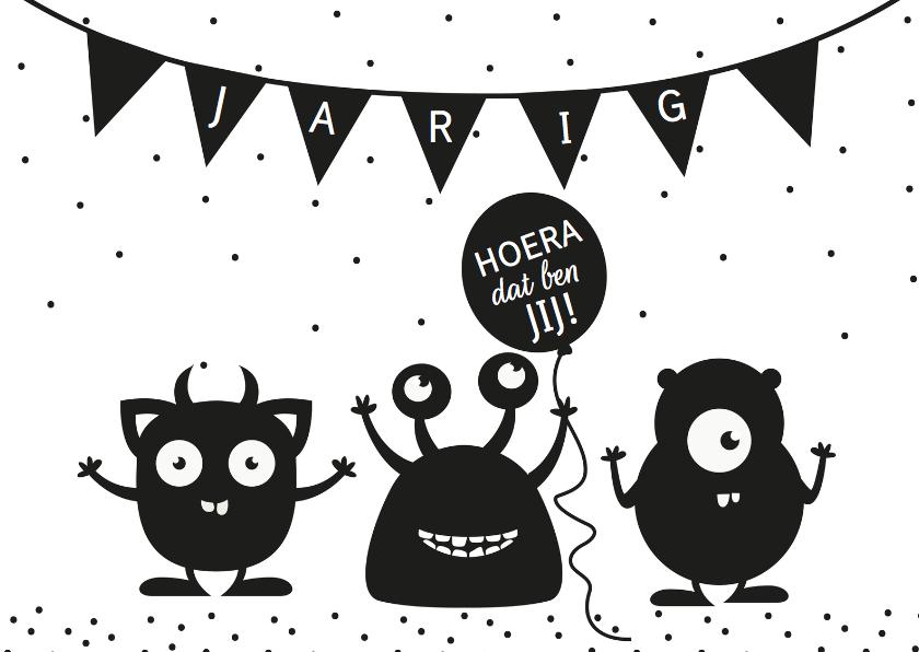 Verjaardagskaart Monsters 1
