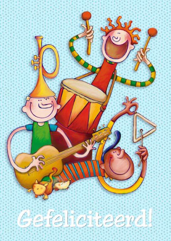 Verjaardagskaarten - Verjaardagskaart Muziek