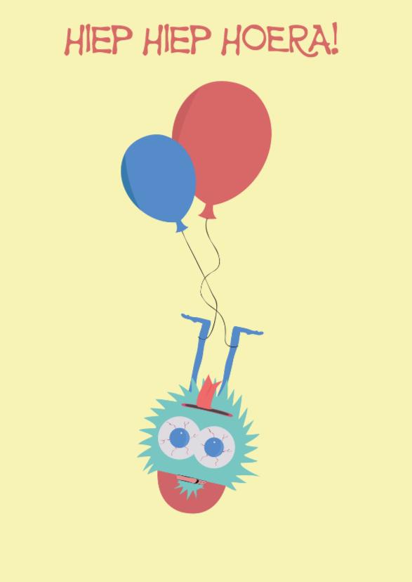 Verjaardagskaarten - Verjaardagskaart op de kop