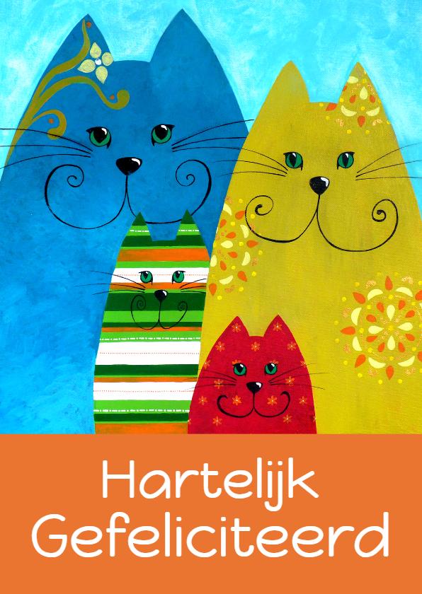 Verjaardagskaarten - Verjaardagskaart opa katten