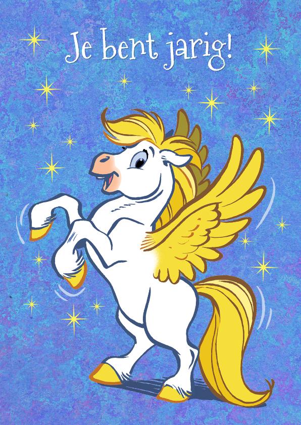 Verjaardagskaarten - Verjaardagskaart paard Florian 1 - A
