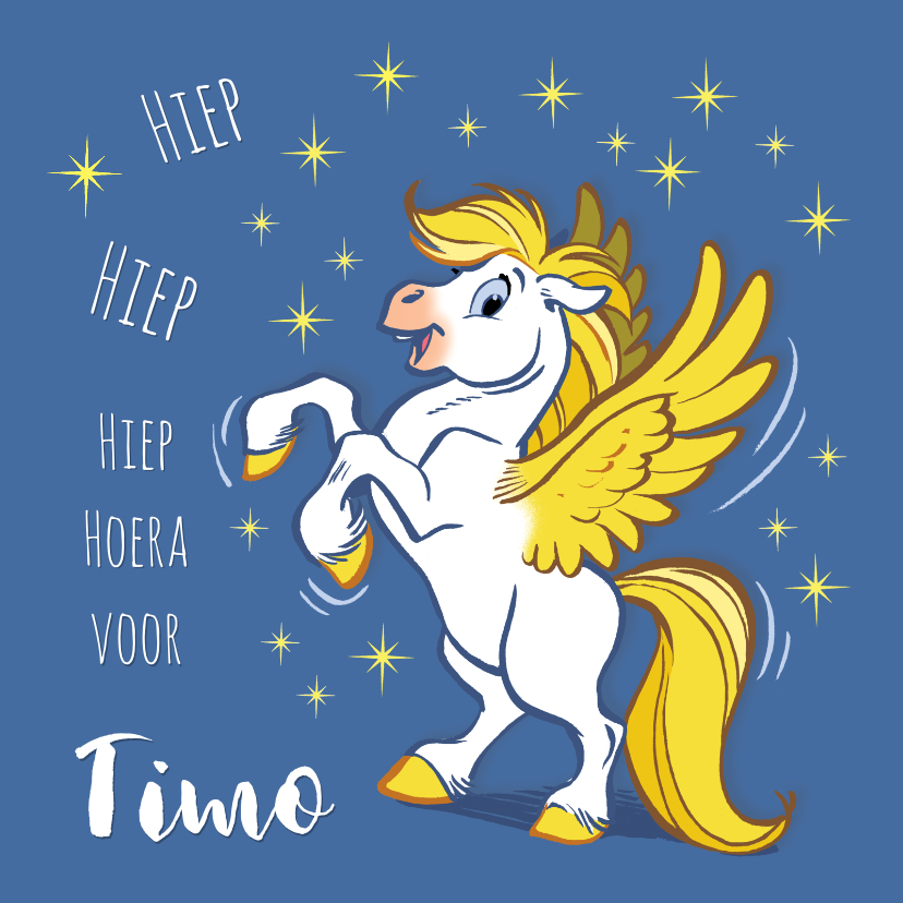 Verjaardagskaarten - Verjaardagskaart paard Florian - A