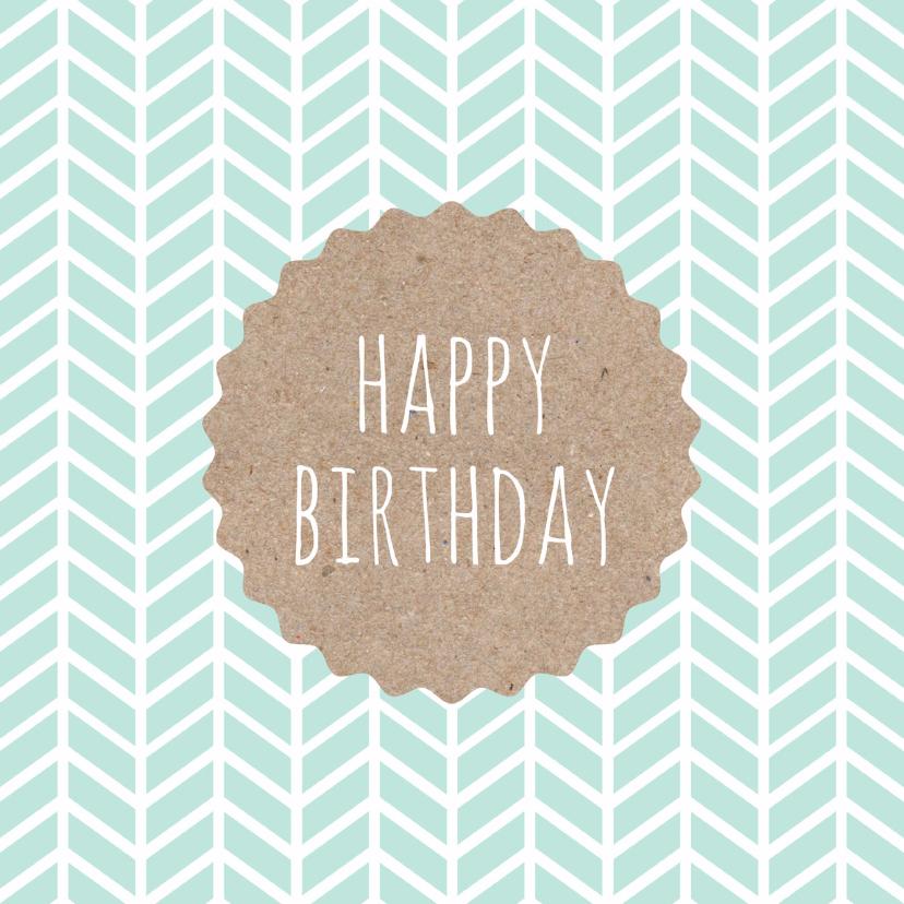 Verjaardagskaarten - Verjaardagskaart patroon karton