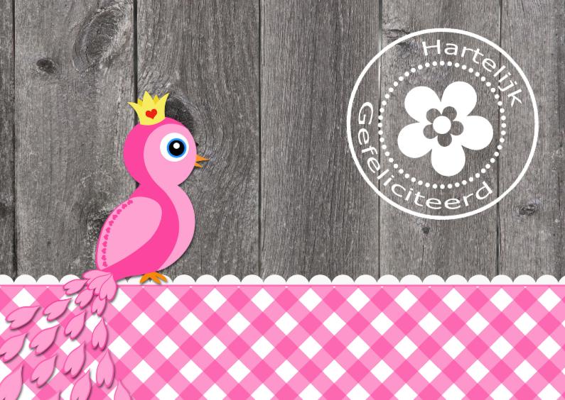 Verjaardagskaarten - Verjaardagskaart Pauw