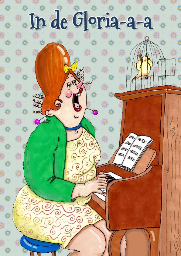 Verjaardagskaarten - Verjaardagskaart pianovirtuoze