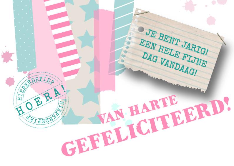 Verjaardagskaarten - Verjaardagskaart Pink&Mint