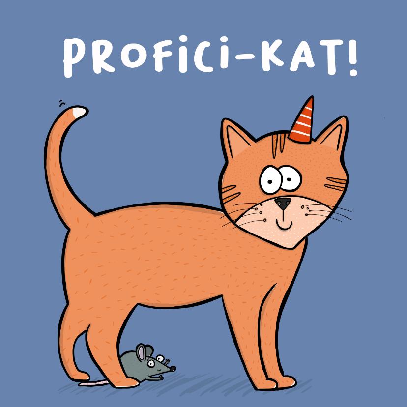 Verjaardagskaarten - Verjaardagskaart profici-kat!