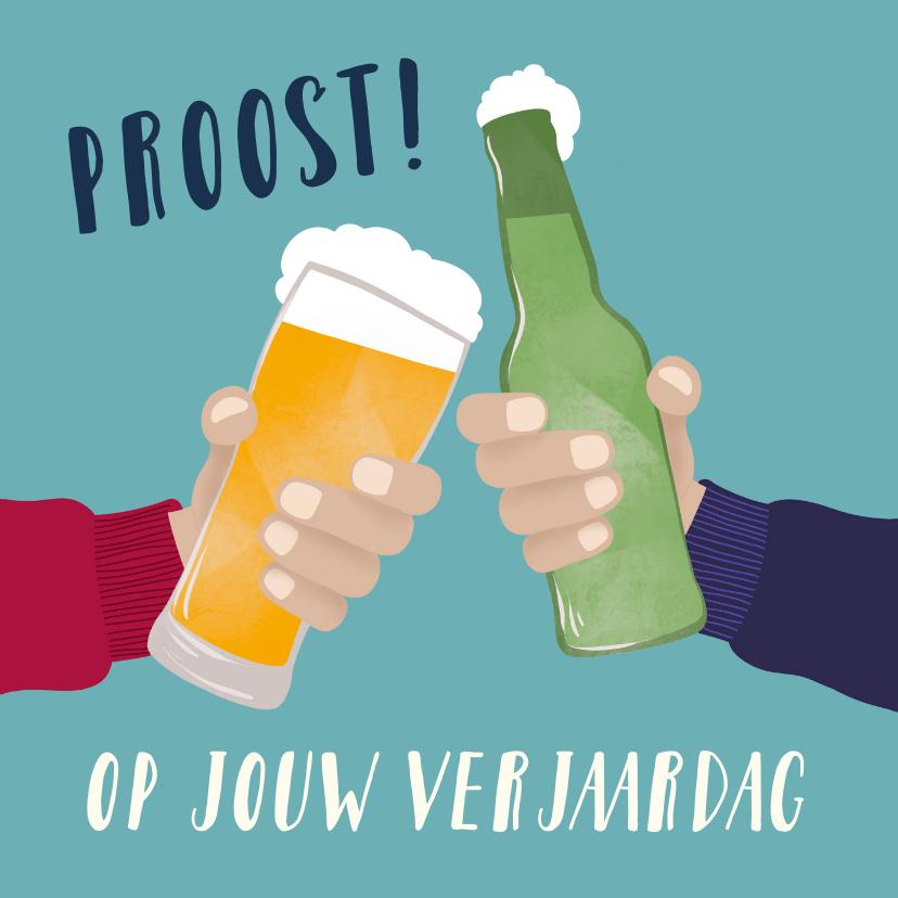 Verjaardagskaarten - Verjaardagskaart - Proosten met bier