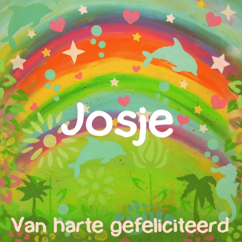 Verjaardagskaarten - verjaardagskaart regenboog IW