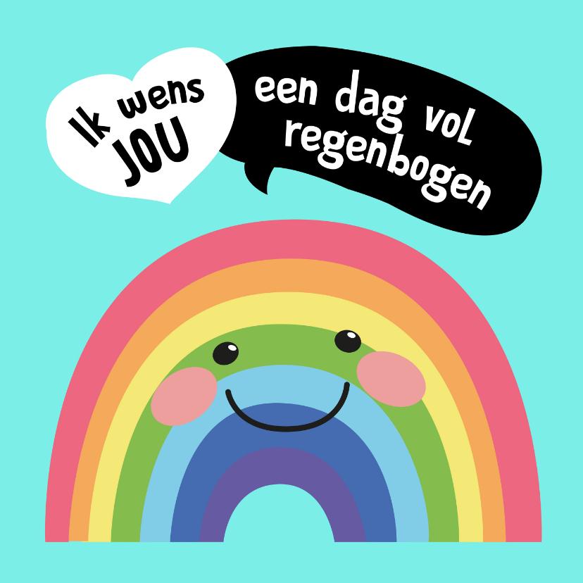 Verjaardagskaarten - Verjaardagskaart - Regenboog - SK