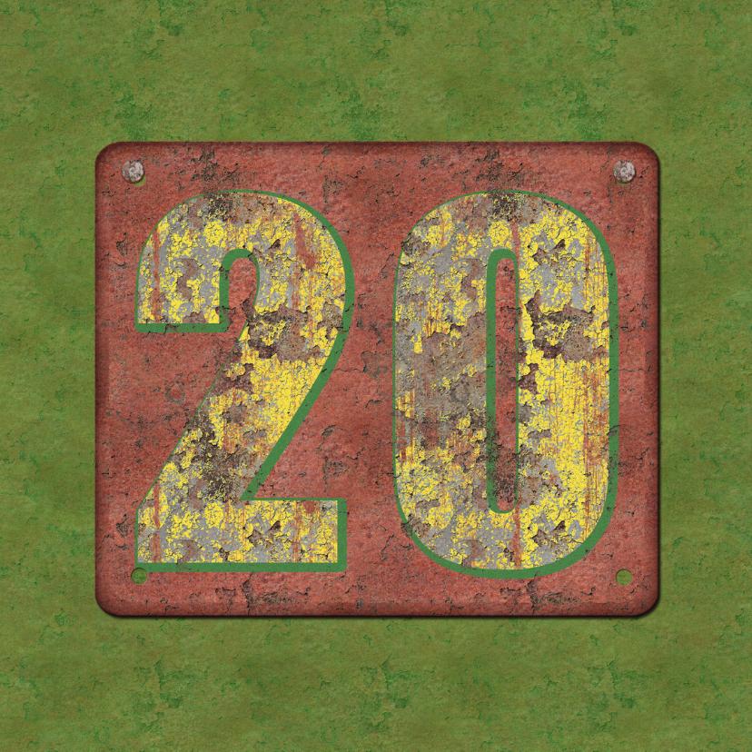 Verjaardagskaarten - Verjaardagskaart Roest20