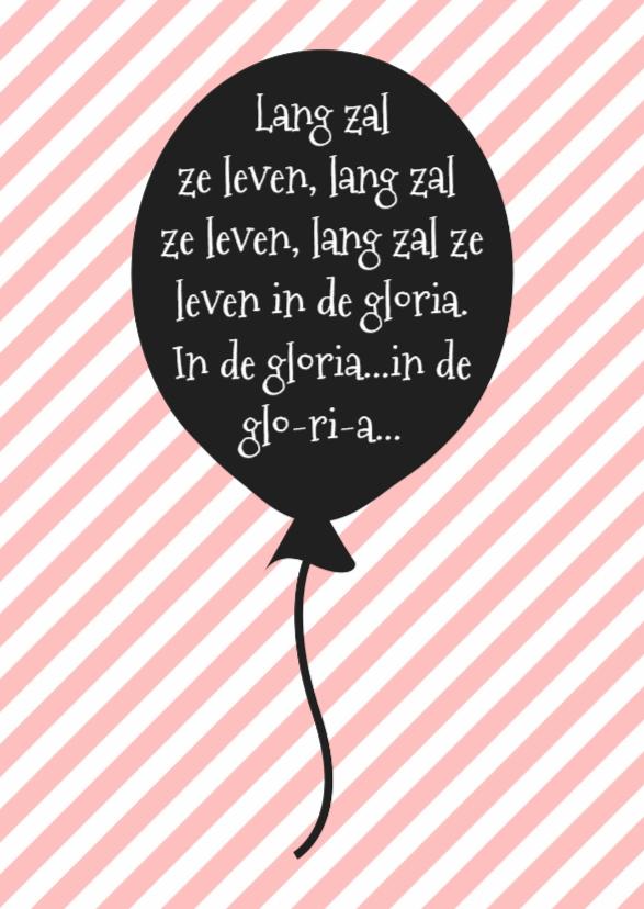 Verjaardagskaarten - Verjaardagskaart Roze Ballon -WW