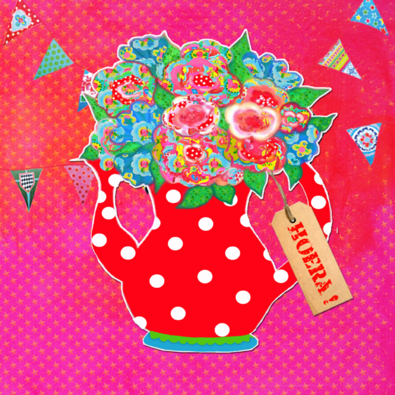 Verjaardagskaarten - Verjaardagskaart Roze PA