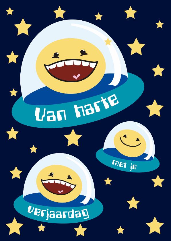 Verjaardagskaarten - Verjaardagskaart space smiley