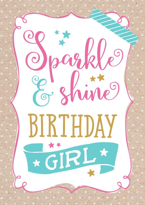 Verjaardagskaarten - Verjaardagskaart Sparkle