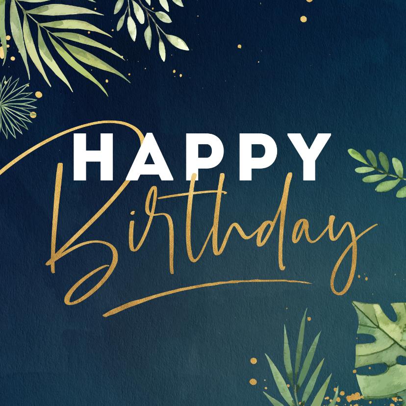 Verjaardagskaarten - Verjaardagskaart spatten