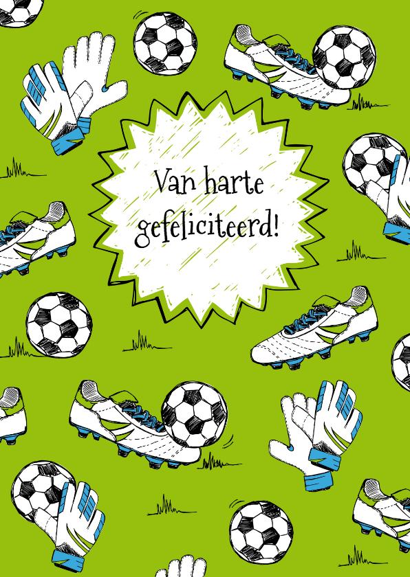 gefeliciteerd sport Verjaardagskaart sport voetbal | Kaartje2go gefeliciteerd sport