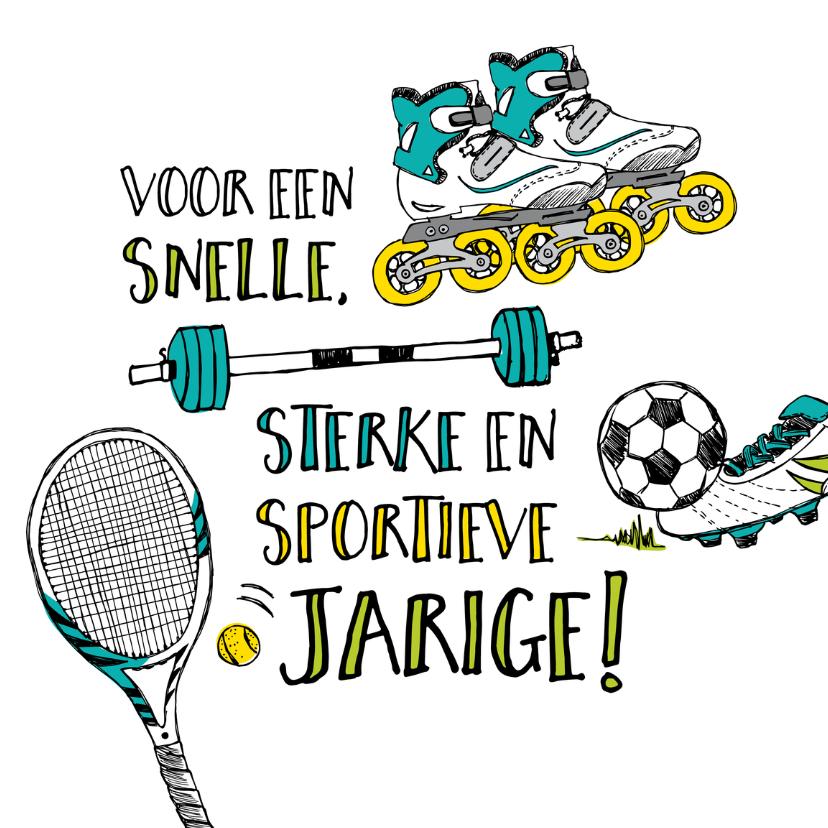 Verjaardagskaarten - Verjaardagskaart sporten