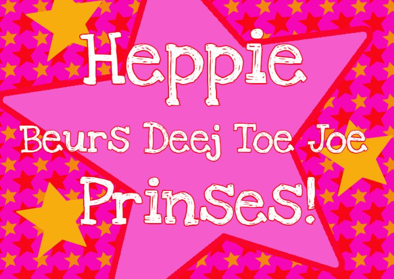 Verjaardagskaarten - Verjaardagskaart Star Prinses PA